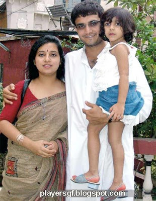 Sourav Chandidas Ganguly and his wife Dona Ganguly