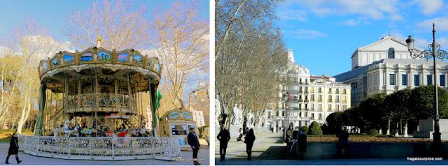 Madri, Carrossel na Praça de Oriente e Teatro Real de Madri