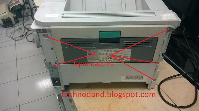 Cara Ganti Fuser Film dan Pressure Roll printer laser hp 2035