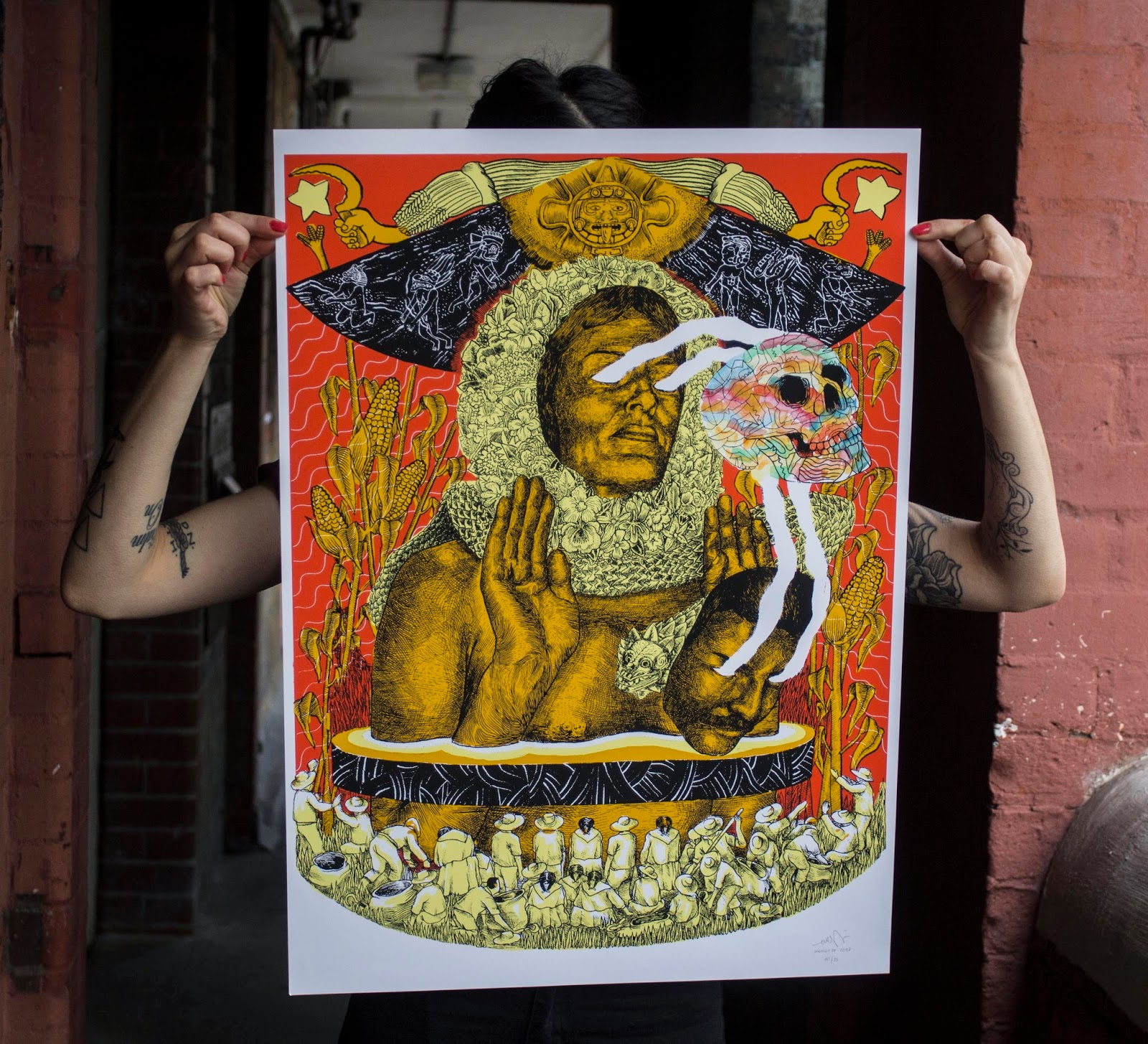 """""""November 19, 1910"""" a new screen-print release by Argentinean Street Artist EVER. 1"""