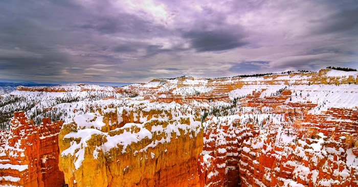 Bryce Canyon Snowy Hoodoos, Amazing Scenery and Colorful Explore