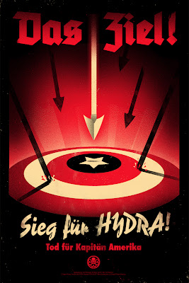 San Diego Comic-Con 2011 Exclusive Captain America: The First Avenger Mondo Screen Print Series by Eric Tan - Hail Hydra