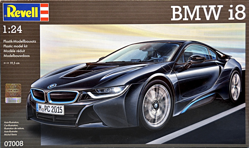 Scale Model News 1 24 Scale Bmw I8 Hybrid Electric Car From Revell