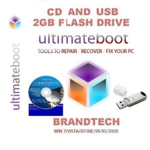 Ultimate Boot CD & USB / Disc Recovery Repair DOS Windows 7 XP Vista
