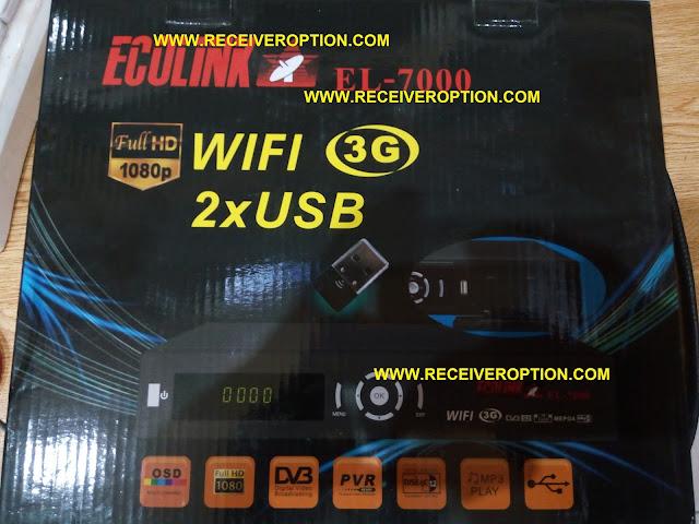 ECOLINK EL-7000 HD RECEIVER CCCAM OPTION