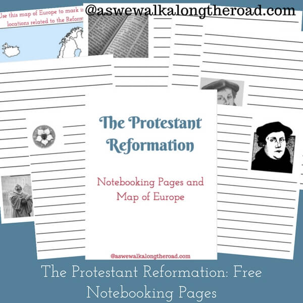 Free Reformation Day notebooking pages