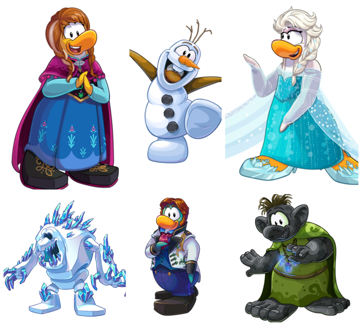 Members will be able to dress up like their favorite characters from Frozen, including Olaf, Sven, Anna, Elsa and Kristoff.