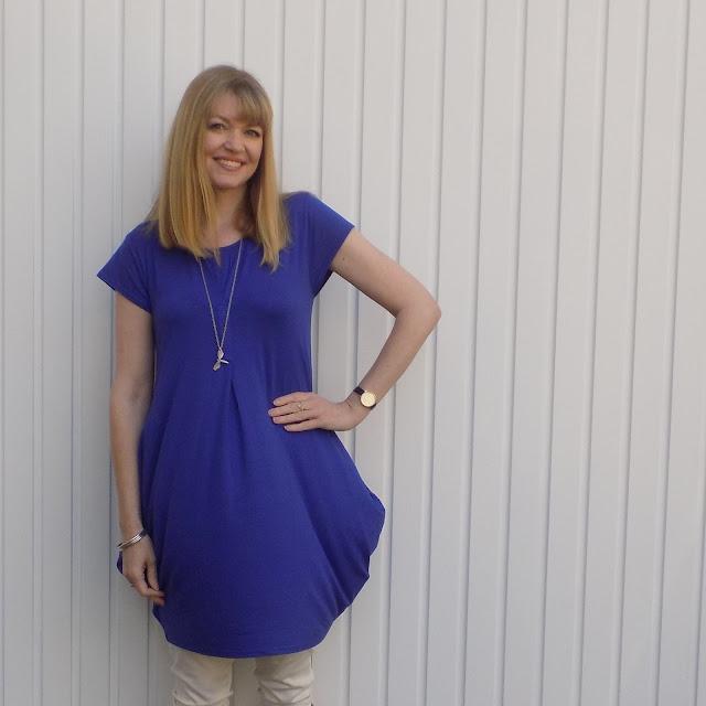 Cobalt blue Masai cocoon dress from Gemini woman