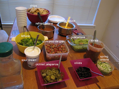 nacho bar with all the fixings