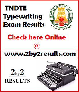 TNDTE Typewriting exam result February 2018
