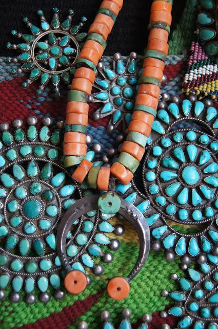 Uchizono Gallery Navajo Pueblo Trade Coral And Turquoise