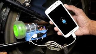 membuat sendiri charger hp free energi  di sepeda