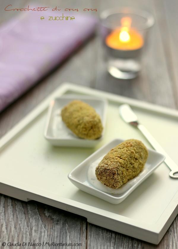 Crocchette di cous cous e zucchine
