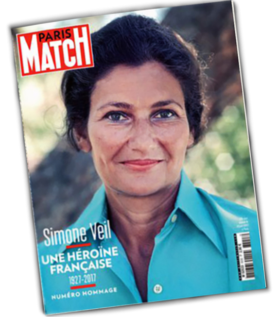 Simone Veil paris match magazine cover