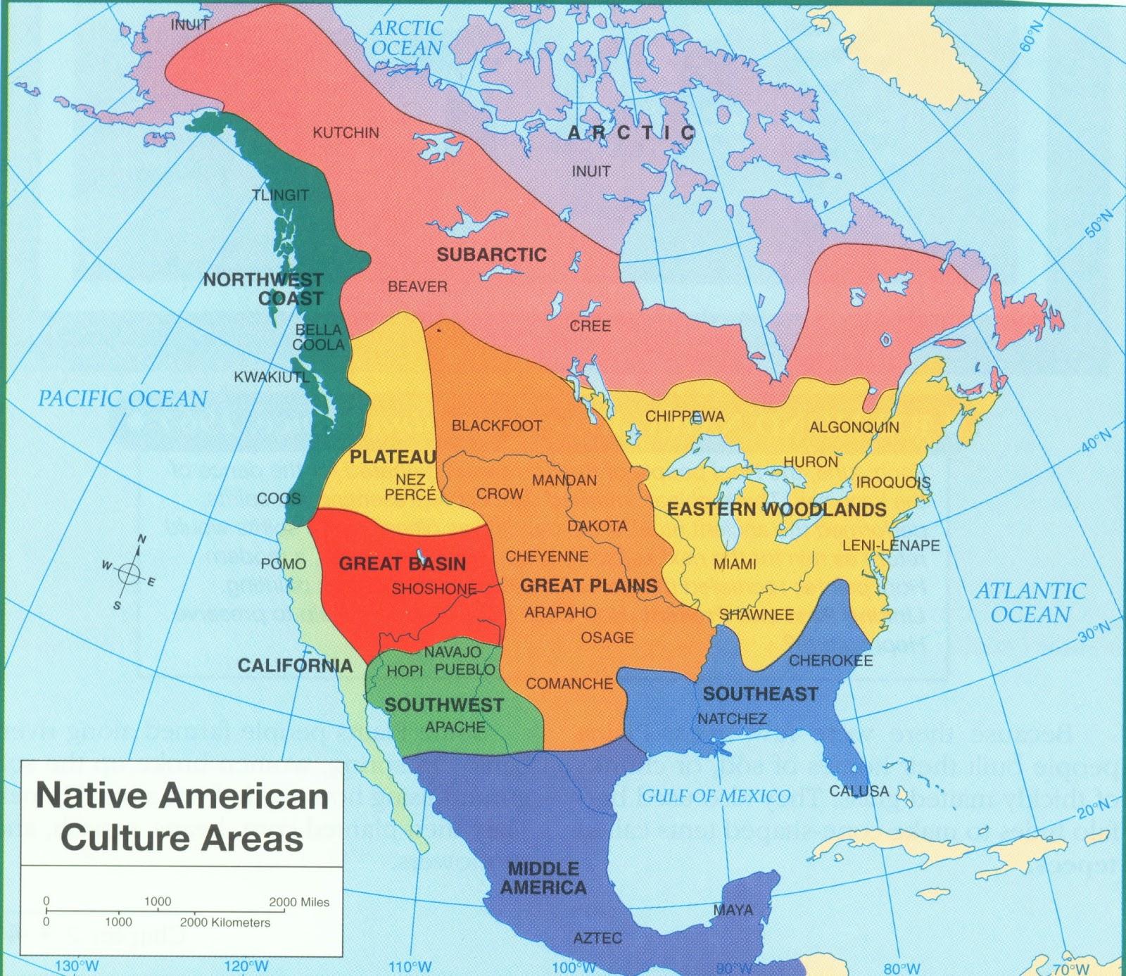 native american culture map