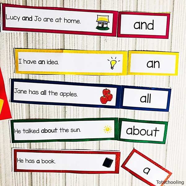 photograph about Printable Sentence Strips identified as Sight Phrase Sentence Strips Totschooling - Little one