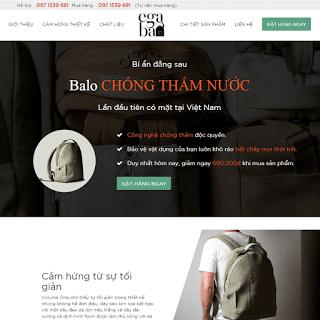 template blogspot landing page bán hàng