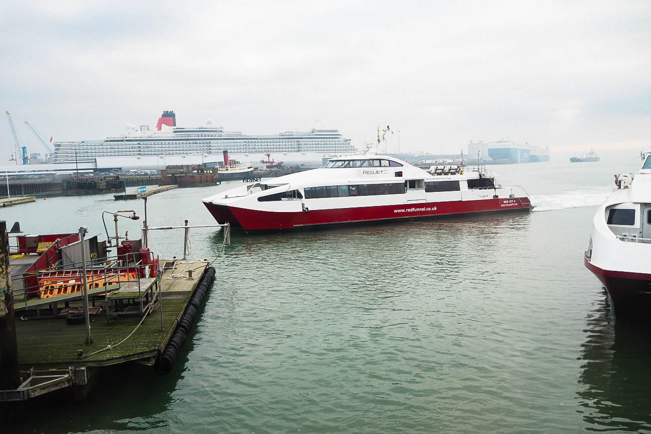 Red jet ferry