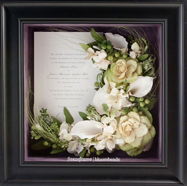 Frame Your Wedding Flowers Preserved Wedding Bouquet