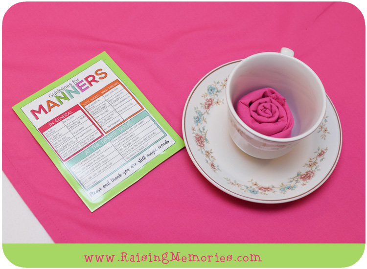 Manners Tea Party Free Printable Handout