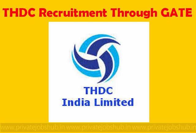 THDC Recruitment Through GATE