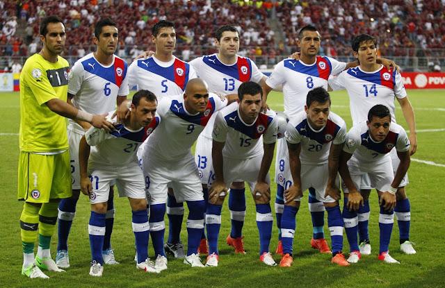 Formación de Chile ante Venezuela, Clasificatorias Brasil 2014, 9 de junio de 2012