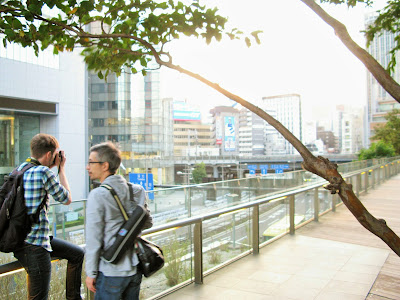 eyexploretokyo guide, Magnus, in Shiodome, Tokyo, Japan.