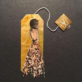فنانة تحول أكياس الشاي إلى لوحات فنية مذهلة