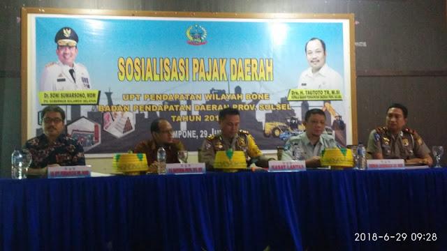 Samsat Bone Gelar Sosialisasi Pajak Daerah dan Perkenalkan Pergub No 90 Tahun 2018