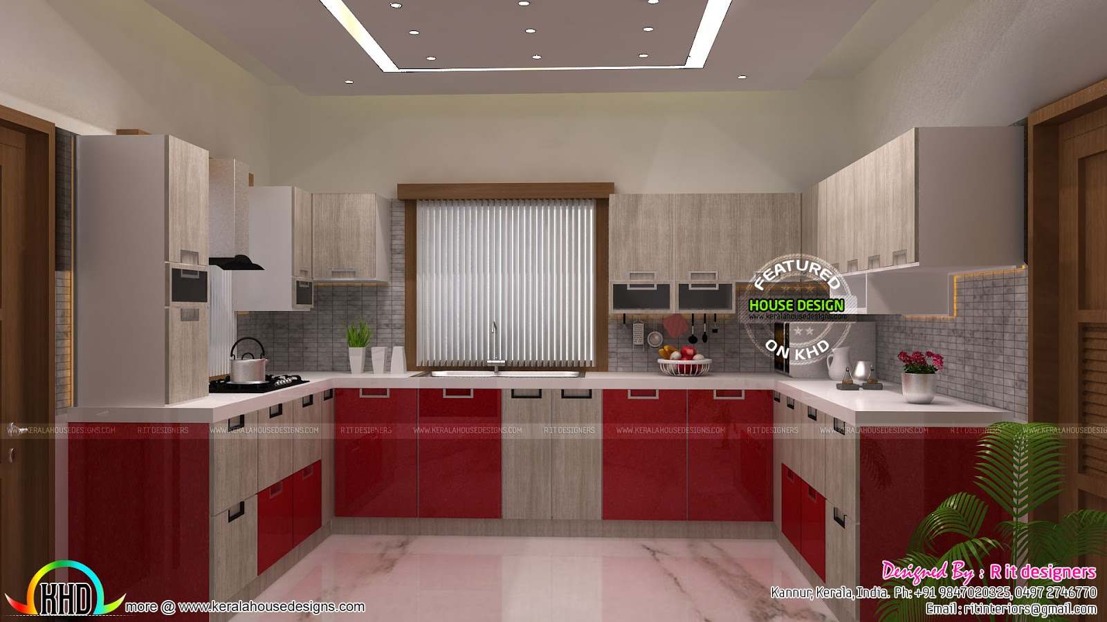 Modular kitchen dining bedroom interiors kerala home for Designers homes