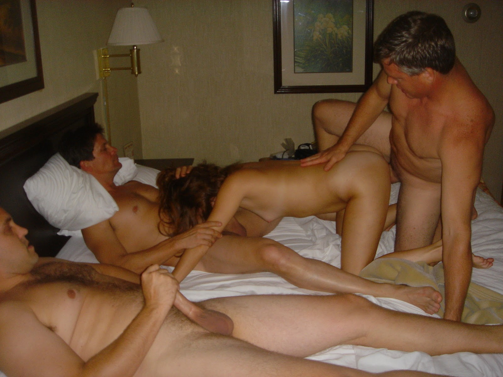 Wife fucks several men while husband tapes 9