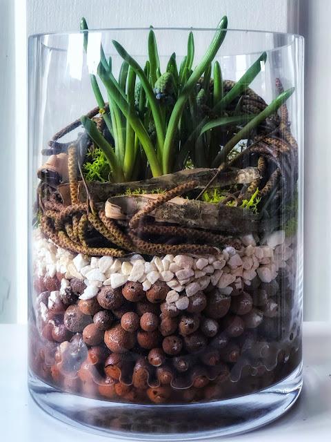 Wiosenny mini ogródek w szkle.