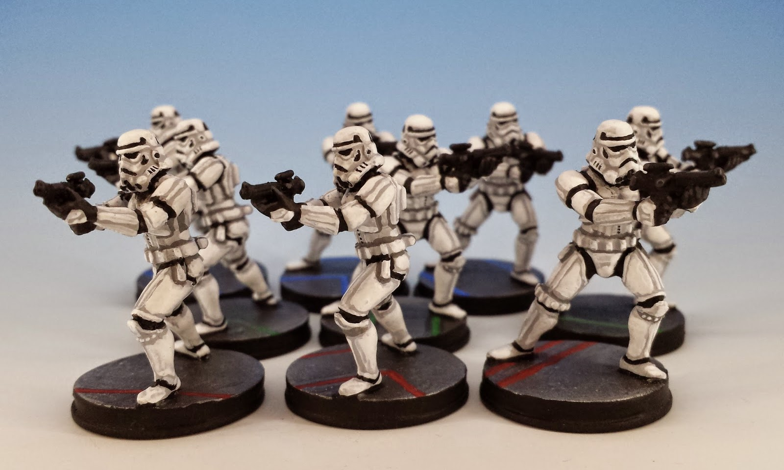 Storm Troopers, Fantasy Flight Games (2014, sculpted by Benjamin Maillet, painted by M. Sullivan)
