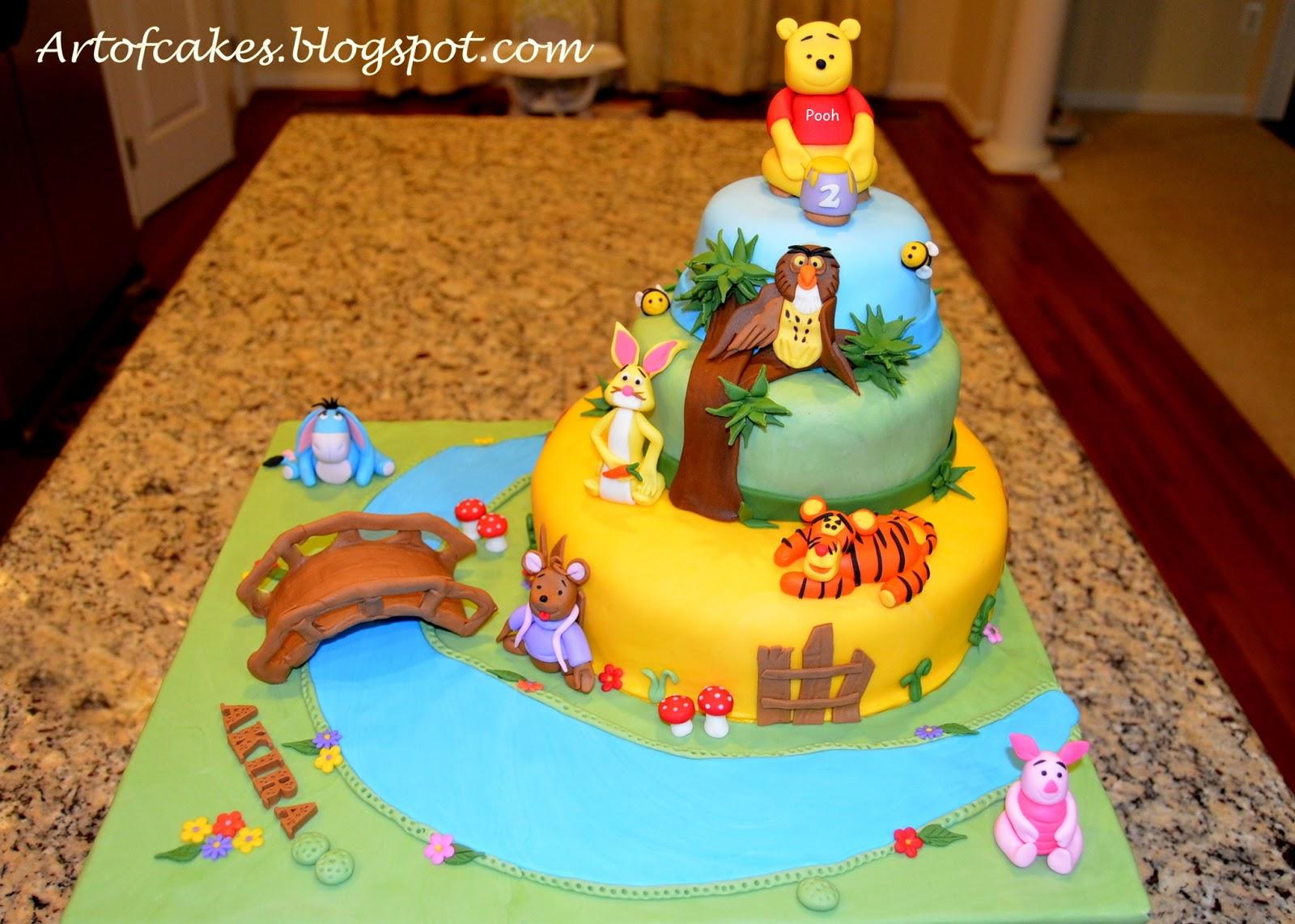 Art Of Cakes Winnie The Pooh Friends Theme Fondant Cake