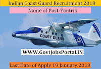 Indian Coast Guard Recruitment 2018 – Yantrik