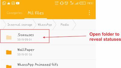 Openn Statuses folder