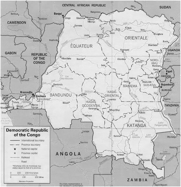 image: Black and white Democratic Republic of the Congo