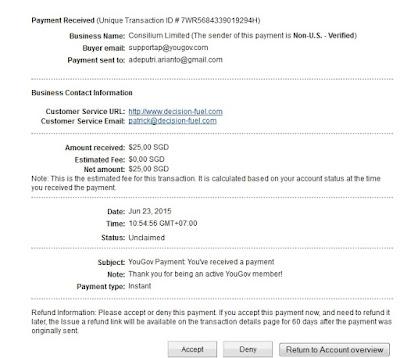 Bukti Pembayaran/Cashout/Payout Survey Terpercaya Yougov