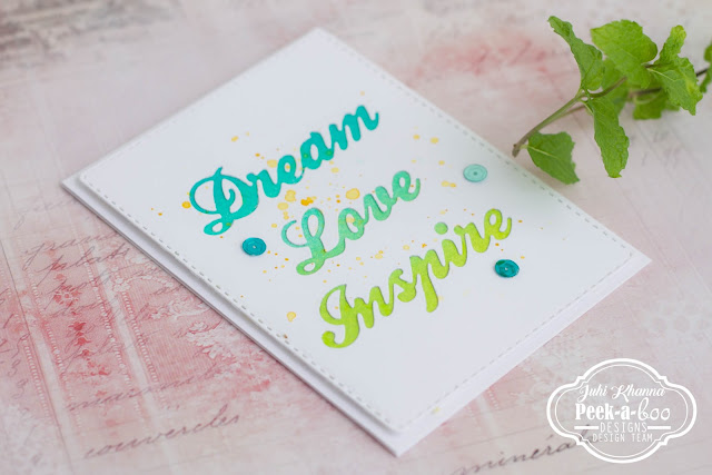 Negative Die Cutting with Peek-a-boo Designs Dies