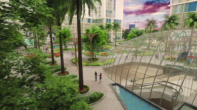 Khuôn viên chung cư Eco Dream city
