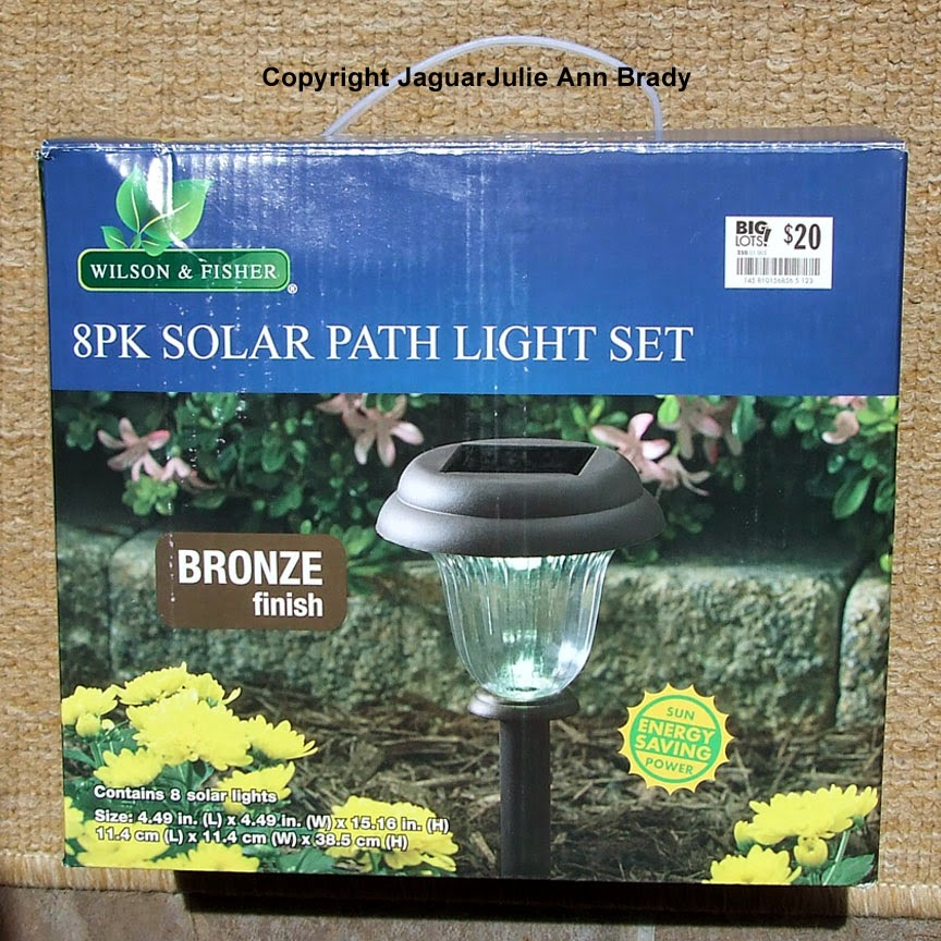 Wilson & Fisher 8 Pk Solar Path Light Set - Bronze Finish 033114