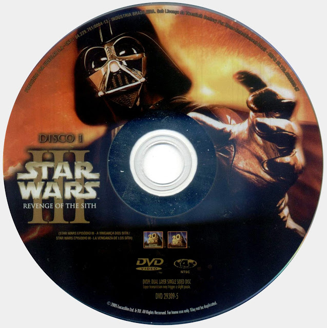 Label DVD Star Wars III A Vingança Dos Sith