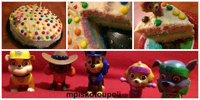 our rainbow birthday cake paw patrol