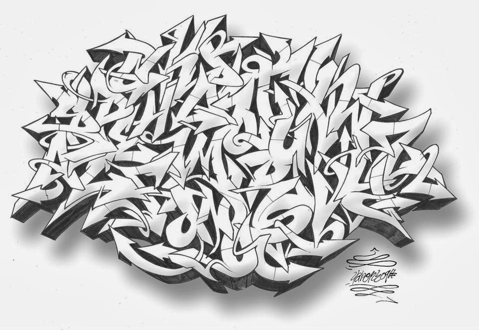 Graffiti Wall: Graffiti Alphabet Wildstyle