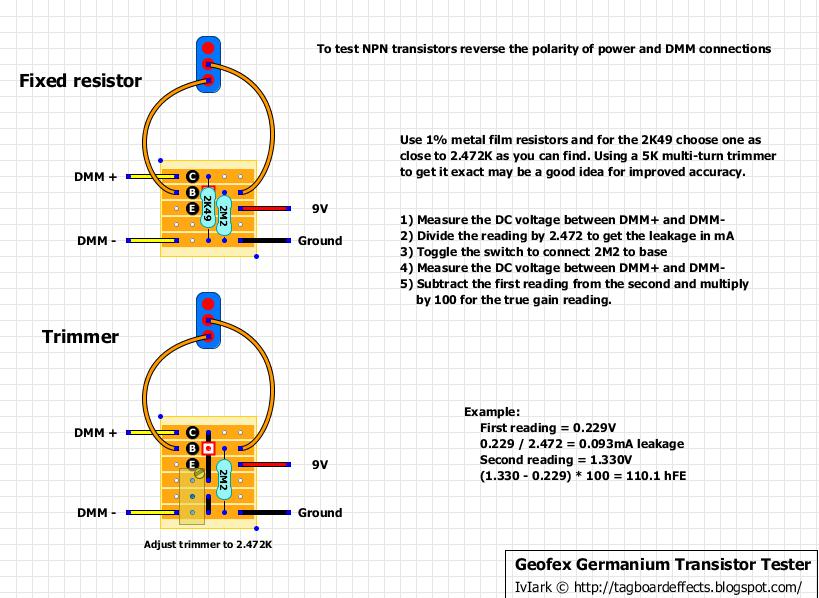 Guitar Fx Layouts  Germanium Transistor Tester