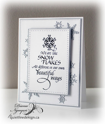 Diana Nguyen, Quietfire Design, Snowflakes, Impression Obsession