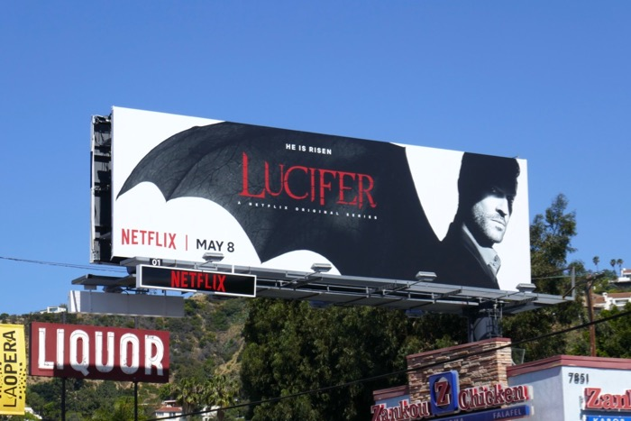 Tom Ellis Lucifer season 4 billboard