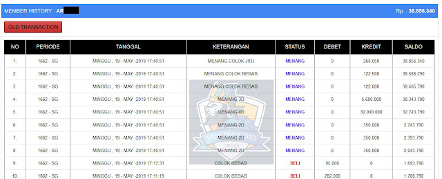 Jackpot Singapore 19 Mei 2019