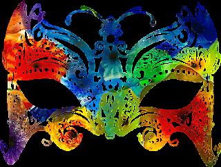 Mascara de carnaval cheia de cor 3 png