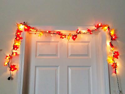 DIY Lighted Fall Leaf Garland